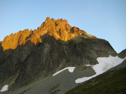Alpenglow On East Face Of Johannesburg Mountain