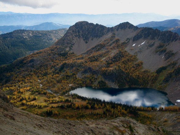 Jason Point and Larch Lake From Deadhorse Peak