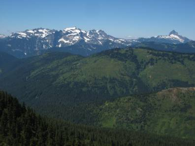 Monte Cristo Mountains and Sloan Peak From Fortune Mountain