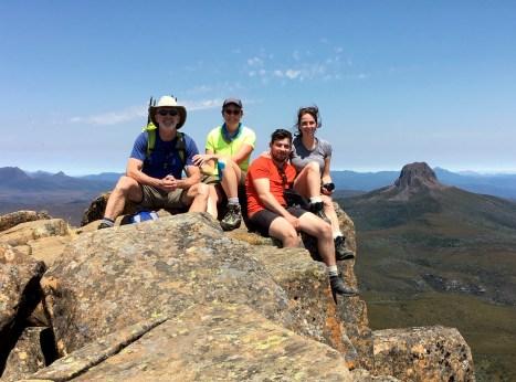 Jim & Eileen & Cal & Brooke On Cradle Mtn Summit