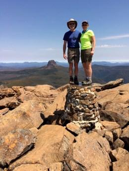 Jim & Eileen On Cradle Mtn Summit
