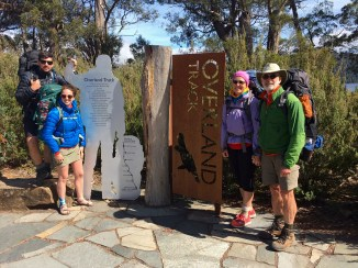 Cal & Brooke & Eileen & Jim At End Of Overland Track