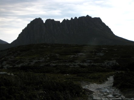 Cradle Mtn Silhouette From Overland Track