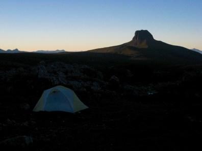 Morning Sun On Barn Bluff From Camp 1