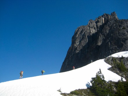 Climbing Out Of Pickell Pass On Day 4