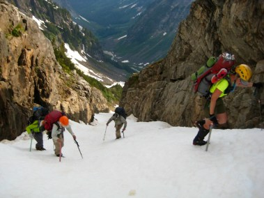 High In Goodell Cirque Snow Gully