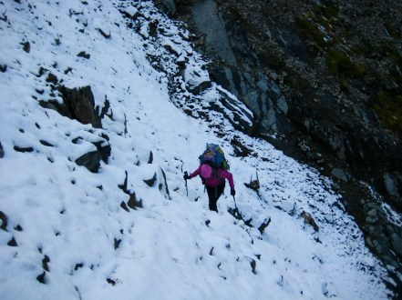 Eileen Hiking Out Of Mix-up Gully