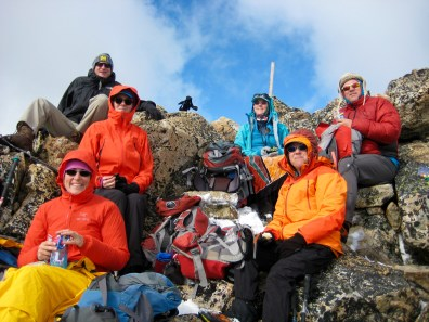 Group On Lakeview Mtn Summit