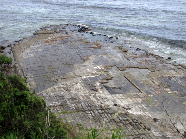 Tessellated pavement - rock that fractured into polygonal blocks