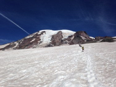Up the Muir snowfield