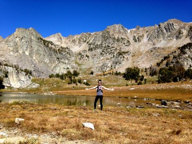 The gorgeous alpine lake at the top of Beehive Basin