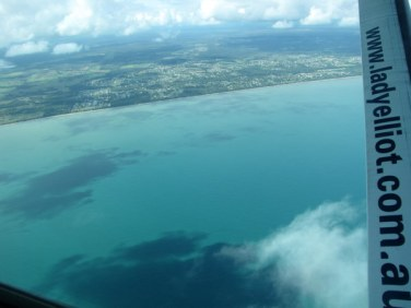 Flying along the coast to Bundaberg to pick up a few more passengers.