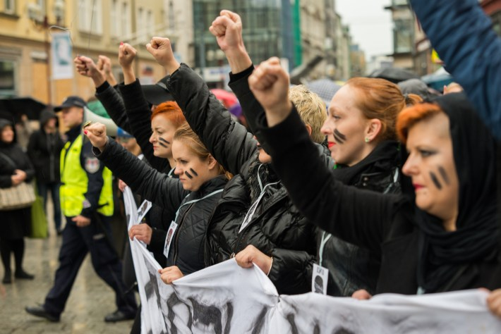 Protest against anti-abortion law