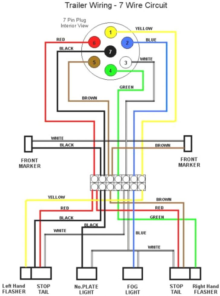 trailer wiring diagram 7 pin round uk 1993 chevy silverado alternator hitch components electrical circuit plug ford way