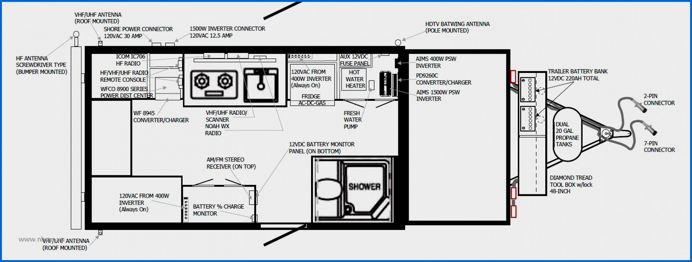 wiring diagram for trailers 7 pin