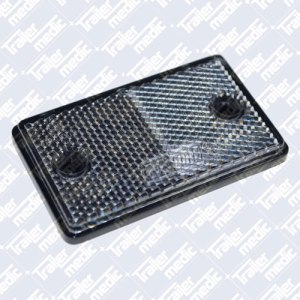 Rectangular clear front reflector