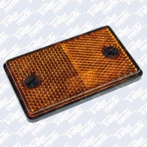 Rectangular amber side reflector