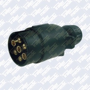 Black Plastic 7pin Trailer Plug 7N