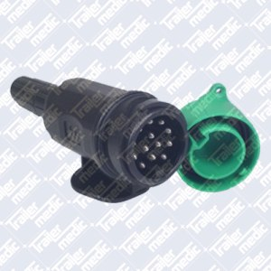Black Plastic 13pin Euro Trailer Plug