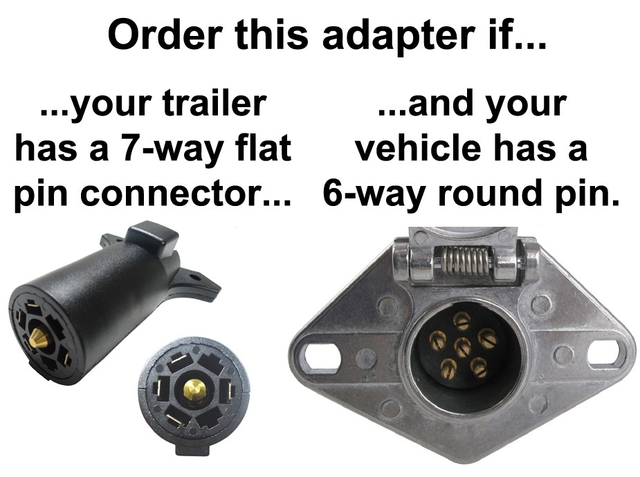 6 pin round trailer connector wiring diagram vw polo 9n3 radio 6-way to 7-way flat adapter - center auxiliary adapters ...