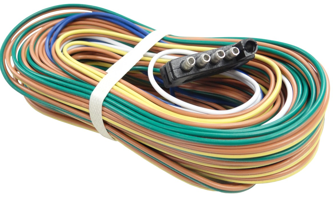 hight resolution of 35 wire harness 5 way flat trailer end connector 48 ground wire 60 auxiliary wire for back up solenoid