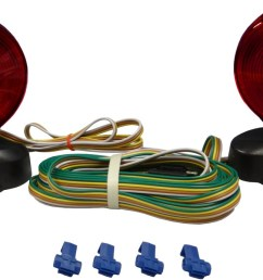 auxiliary tow light kit with two double face incandescent red amber stop tail and turn lights with magnetic base trunk connector and 20 trailer harness [ 1166 x 690 Pixel ]
