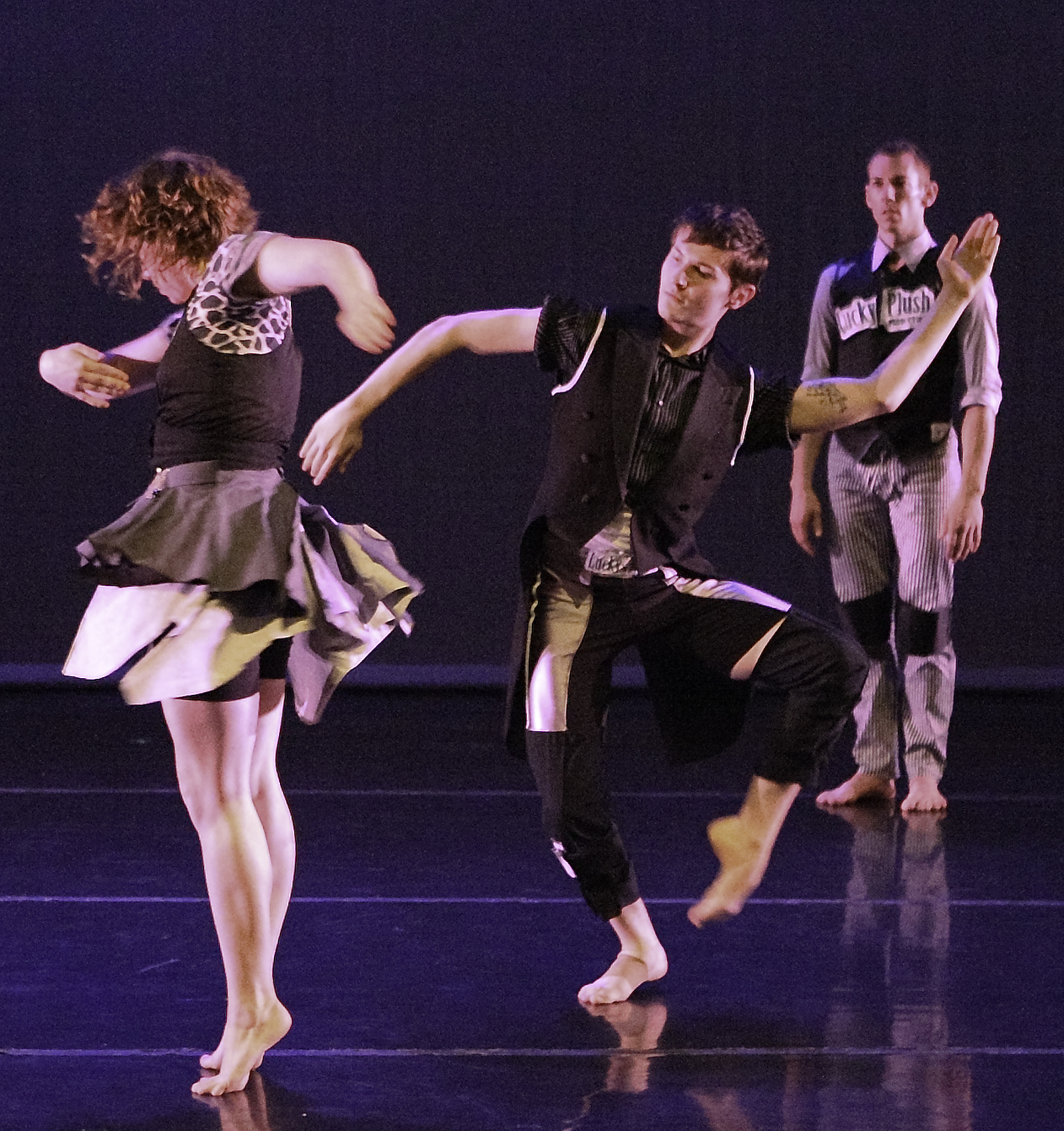 Meghann Wilkinson, Hogan McLaughlin and Jeremy Blair in Punk Yankees. Photo by William Frederking.
