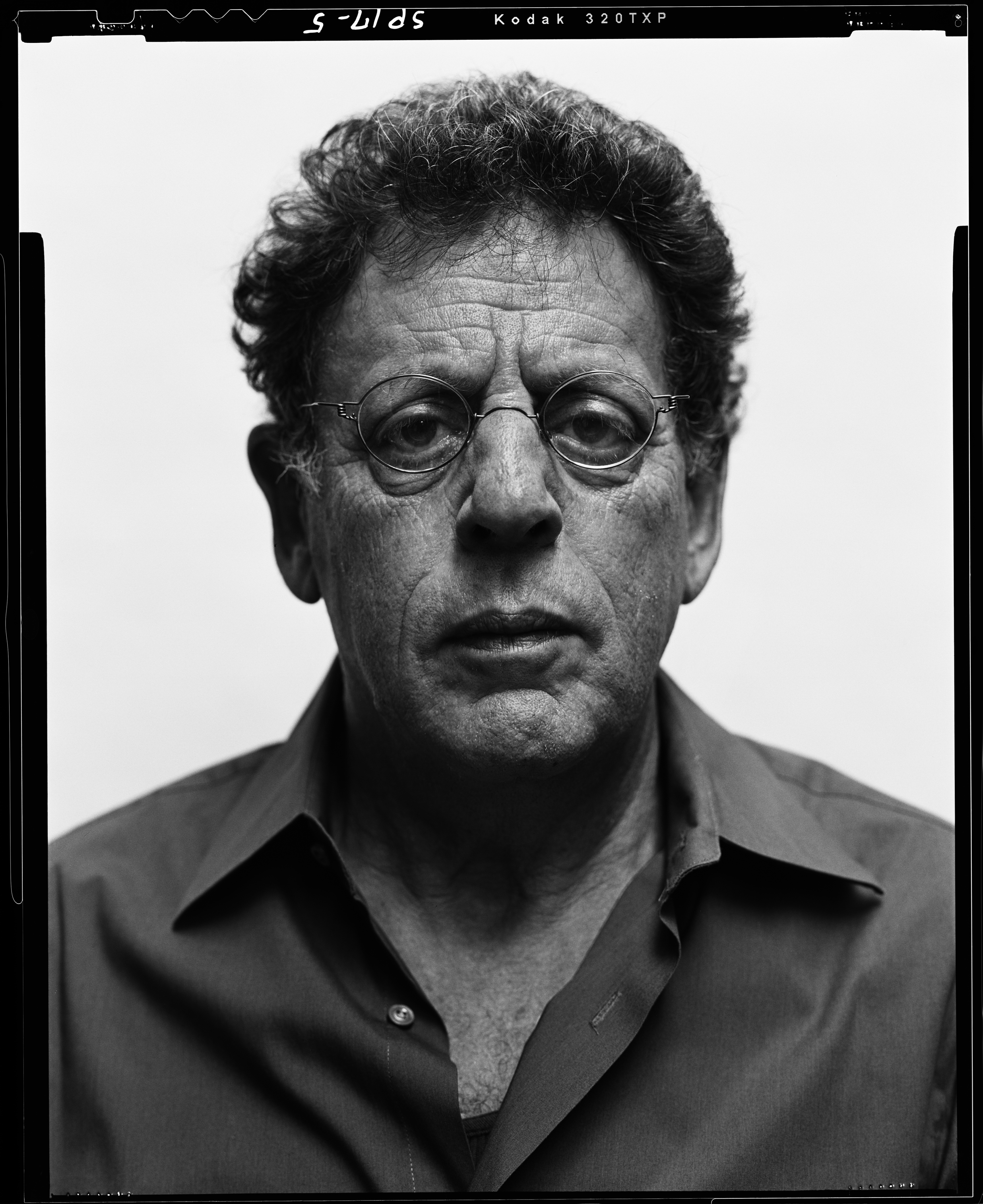 Philip Glass. Photo by Steve Pyke.