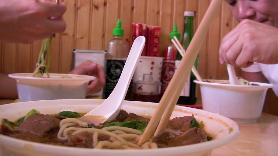 Noodles at Super Taste Restaurant.