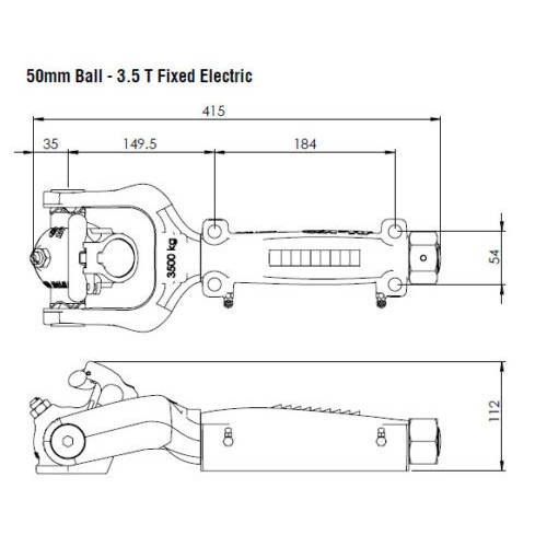 CEL-OFRD-ALKO Alko 3.5T Off Road Coupling Hitch 50mm Ball