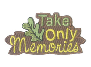 Take Only Memories Patch