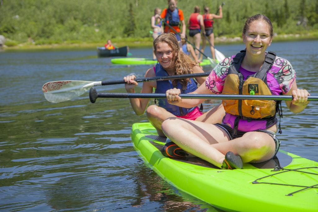 Girls in a canoe