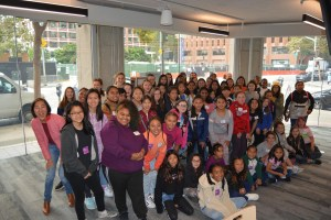 70 girls at the Google Community Space in San Francisco