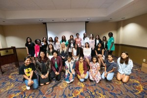 Girls from around the world at the Technovation World Pitch