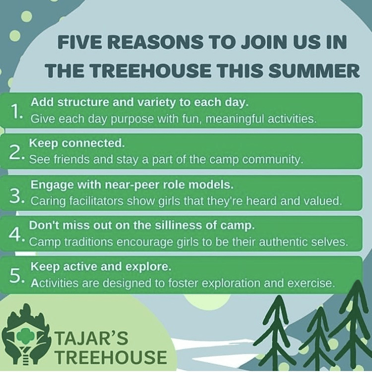 Reasons to join GSNorCal at Tajar's Treehouse
