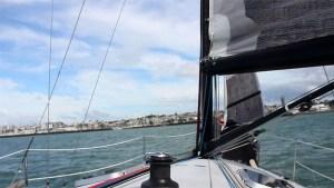 Sailing of the coast of New Zealand