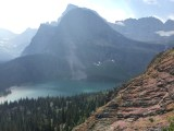 Another overview of Grinnell Lake on our descent