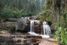 Waterfall along trail