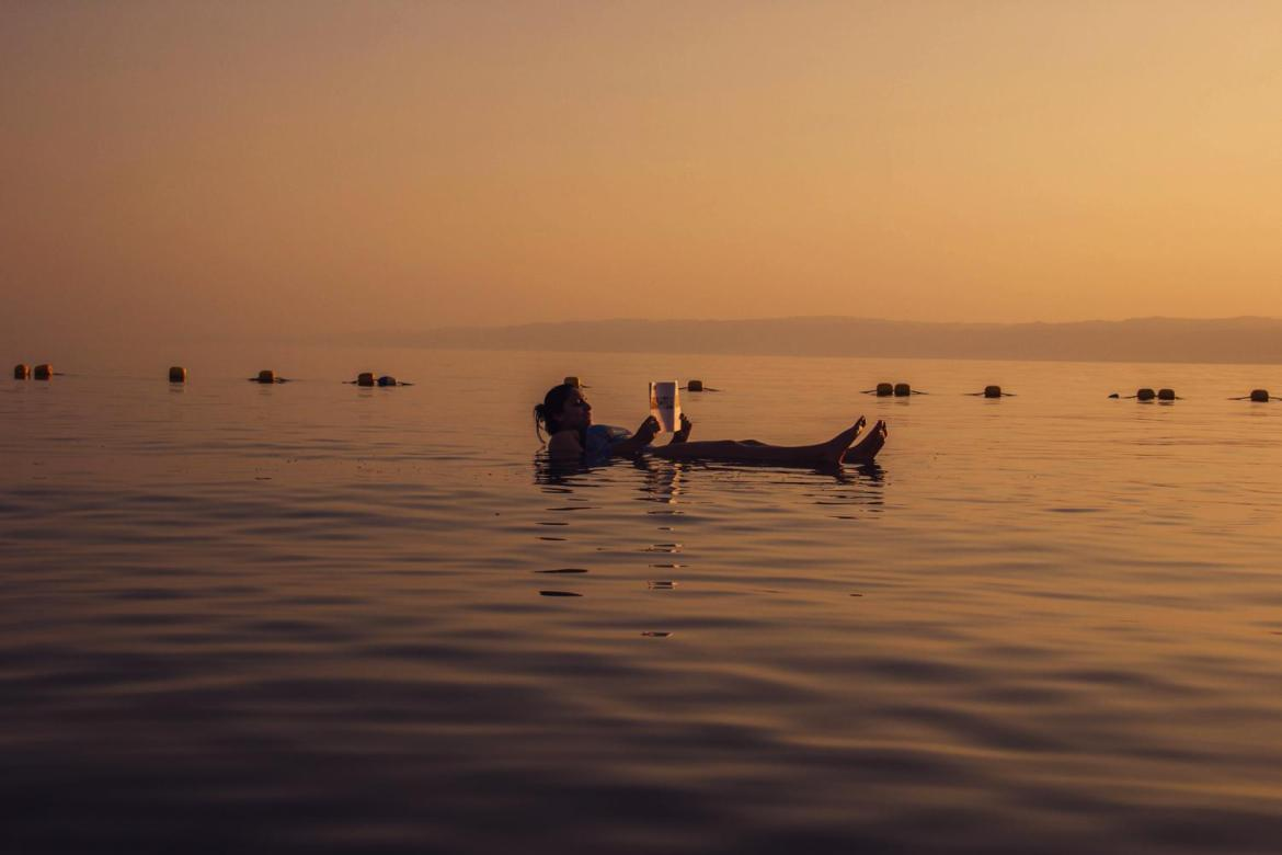 Dead Sea Floating Lady