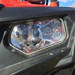 Golf Cart Headlights 2004 Pontiac Grand Prix Wiring Diagram Tricled Tricring Headlight Halos For Rzr 570, 800, 800s, 900xp, 800s 4 Seater ...