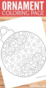 Coloring Pictures Of Christmas Ornaments