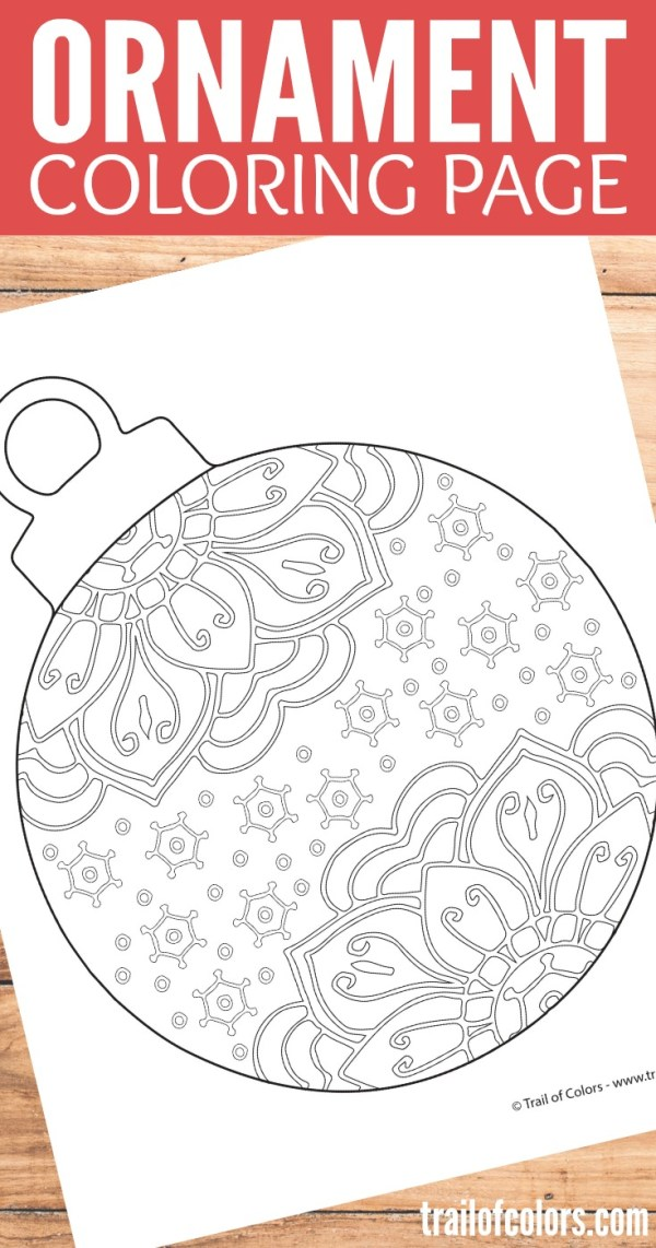christmas ornament coloring page # 47
