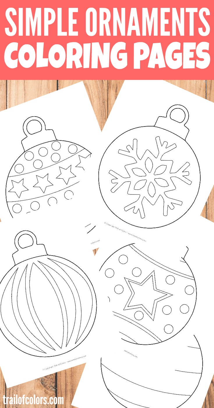Simple Christmas Ornaments Coloring Page For Kids Trail Of Colors