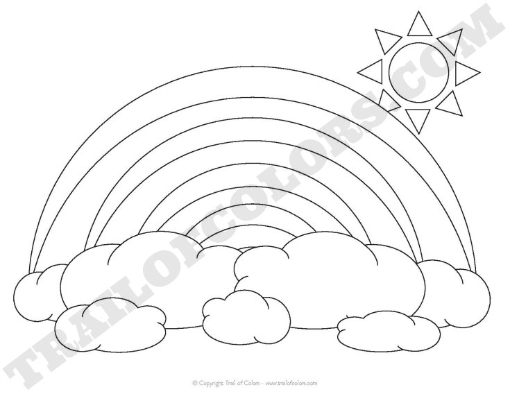 Rainbow Coloring Page For Kids Trail Of Colors