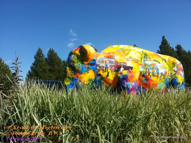 Artist Buffalo-West Yellowstone-Montana-KOA-Trail of Highways-RoadTrek TV-Organic Content-Marketing-Social SEO-Travel-Media-