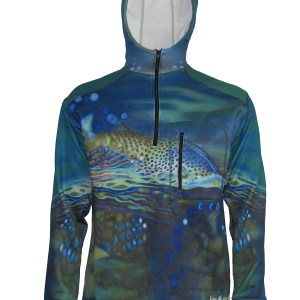 Not Over Yet 1/4-Zip FlexFleece Fish Adventure Hoodie for great warmth style and sun protection