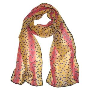 Rainbow Trout 100% Silk Fish Scarf is a great accent accessory to your wardrobe for the fantastic evening out