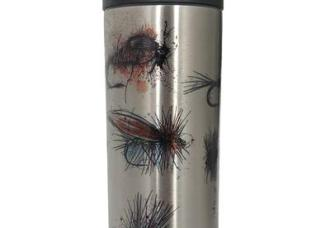 Bunch of Flies Beverage-Bottle is our 18 oz. double walled bottle will keep your cold beverages icy cold and your hot beverages steaming for hours. Shipped with a flip top coffee lid