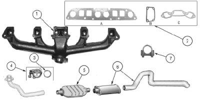 Exhaust Jeep CJ Exhaust System