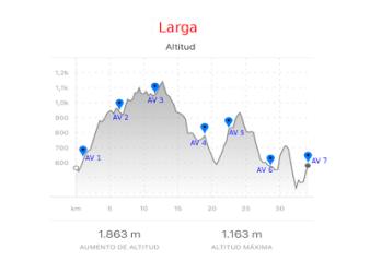 Trail Jubrique perfil 34k